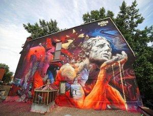 Dodo Ose, Mural International Public Street Art Festival, Montreal, Canada 2017. Photo credit @halopigg