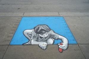 Joe Iurato, Mural International Public Street Art Festival, Montreal, Canada 2017. Photo credit @halopigg