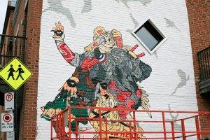 Mort, Mural International Public Street Art Festival, Montreal, Canada 2017. Photo credit gaspardnhms