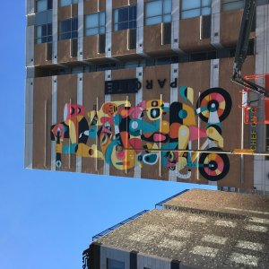 Ruben Sanchez, Mural International Public Street Art Festival, Montreal, Canada 2017. Photo credit @halopigg