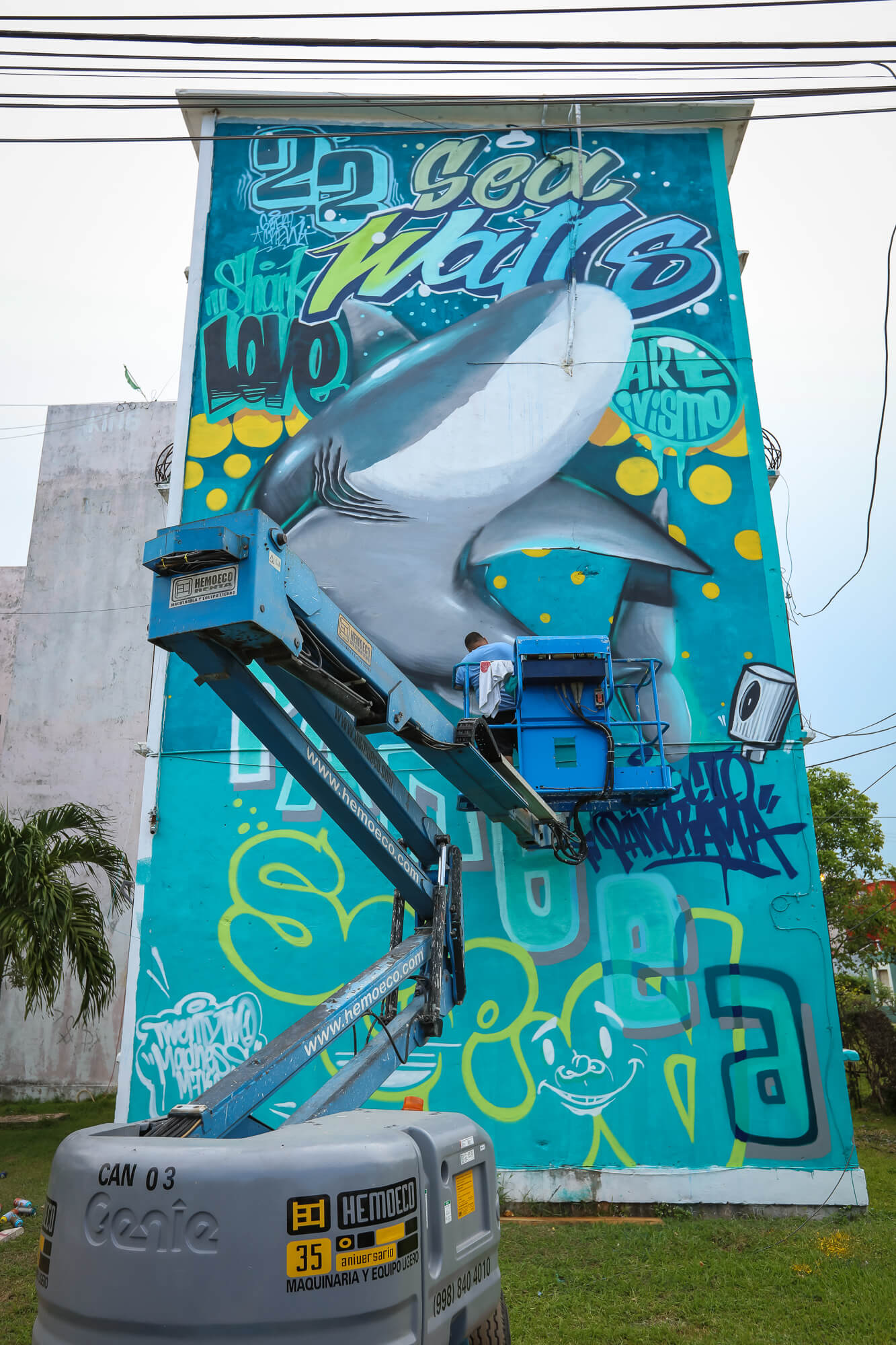 Sea Walls Murals for Oceans Street Art Festival Cancun 2017