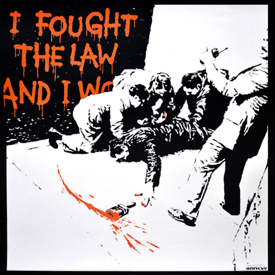 Banksy - I Fought The Law Print