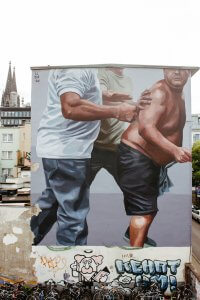 El-Marian, City Leaks, Urban Art Festival, Cologne Germany 2017. Photo Credit Barringhaus