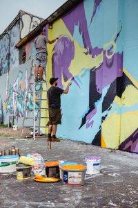 Graffiti Jam, City Leaks, Urban Art Festival, Cologne Germany 2017. Photo Credit Robert Winter