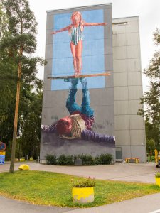Fintan Magee, UPEA Street Art Festival, Finland. Photo Credit Salakari.