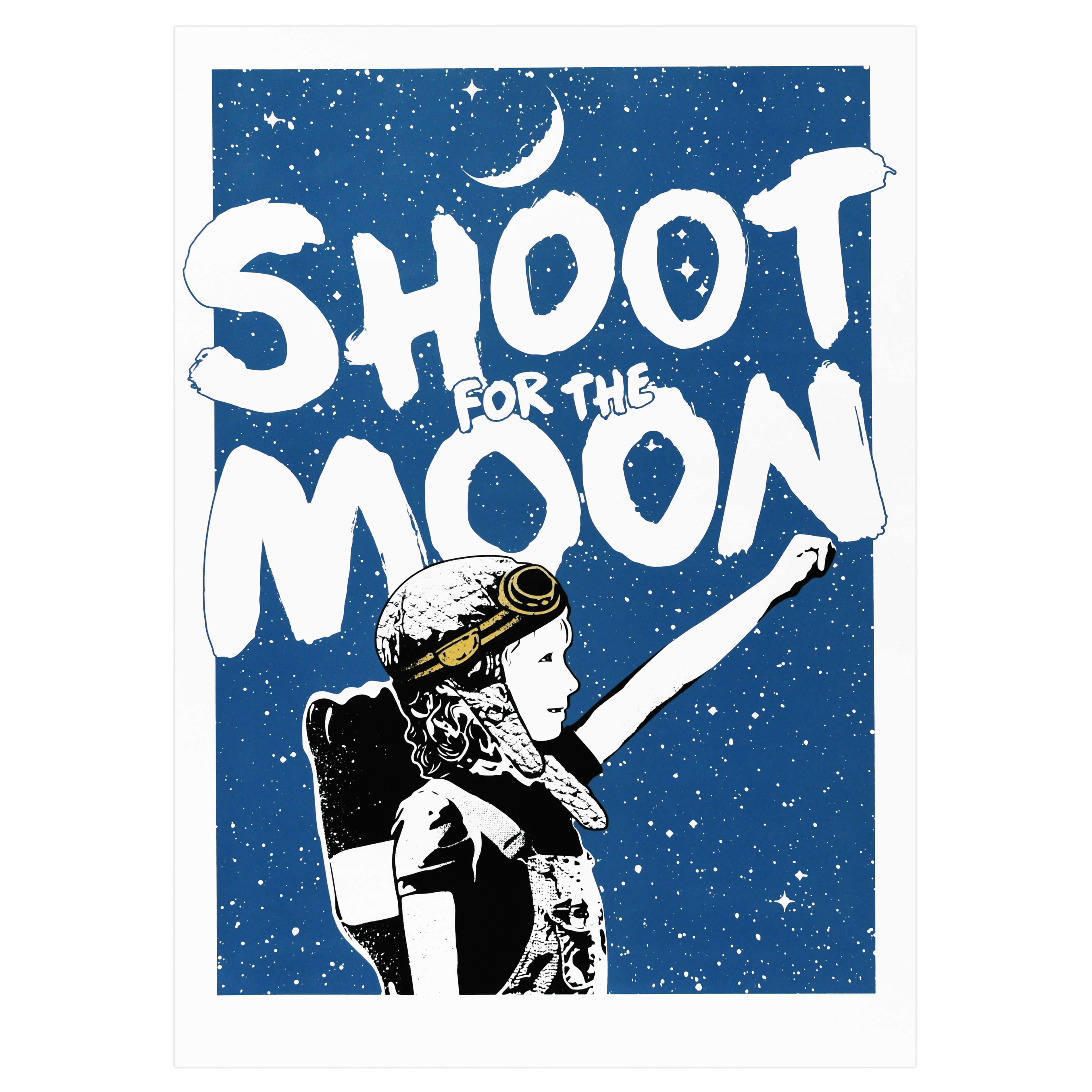 NME - Shoot For The Moon (Gold Edition) Print
