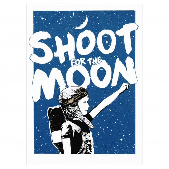 NME - Shoot For The Moon (Main Edition) Print
