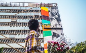 Kobra, St+Art Urban Art Festival Mumbai 2017. Photo Credit Akshat Nauriyal