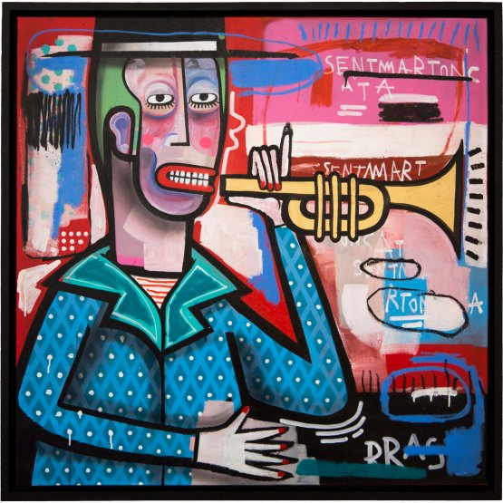 Joachim - The Trumpet Player Canvas 1/1