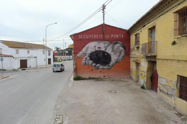 Escif, La Punta, Valencia 2018.