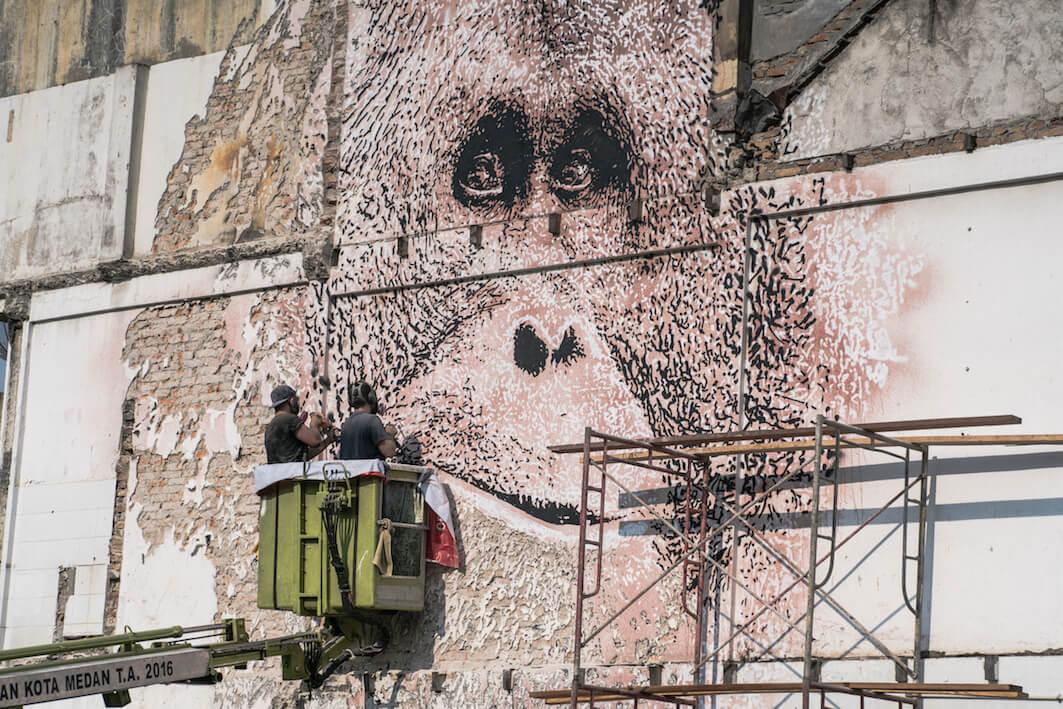 Street artist VHILS Joins the Splash and Burn Project, 2018