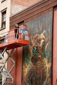 Sonny, Bear Street Art Mural, New York City To the Bone 2018. Photo credit @pixelatedstreets