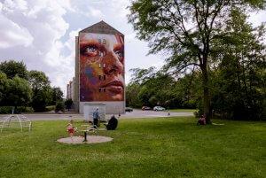David Walker, Kaleidoscope Street Art Festival, Dendermonde, Belgium 2018. Photo Credit Henrik Haven
