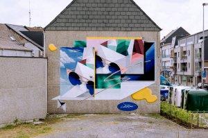 Low Bros, Kaleidoscope Street Art Festival, Dendermonde, Belgium 2018. Photo Credit Henrik Haven