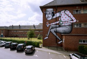 Joachim, Kaleidoscope Street Art Festival, Dendermonde, Belgium 2018. Photo Credit Henrik Haven