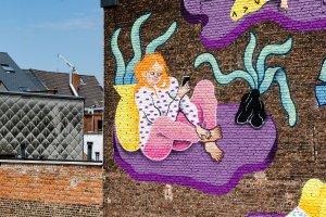Joëlle Duboi, Kaleidoscope Street Art Festival, Dendermonde, Belgium 2018. Photo Credit Henrik Haven