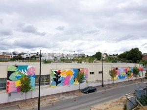 Mina Hamada and Zosen Bandido Wall Street Art Festival 2018, Corbeil-Essonnes, Paris. Photo Credit Galerie Mathgoth