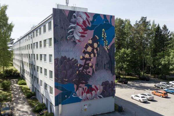 Pastel, Street Art Mural, Karakallio, Espoo, Finland. Photo Credit Marko Malm