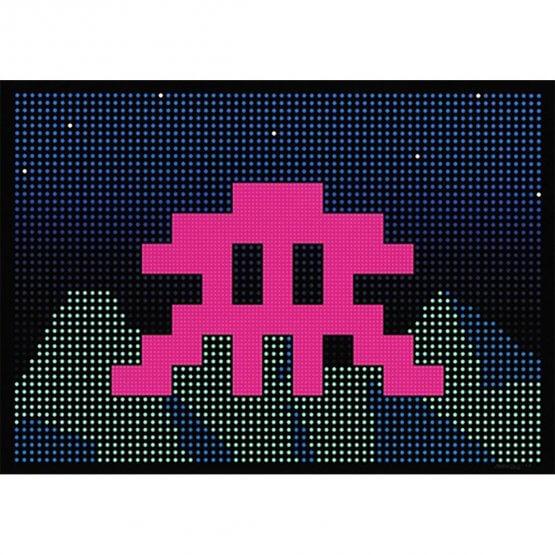 Space Invader - L.E.D. Print