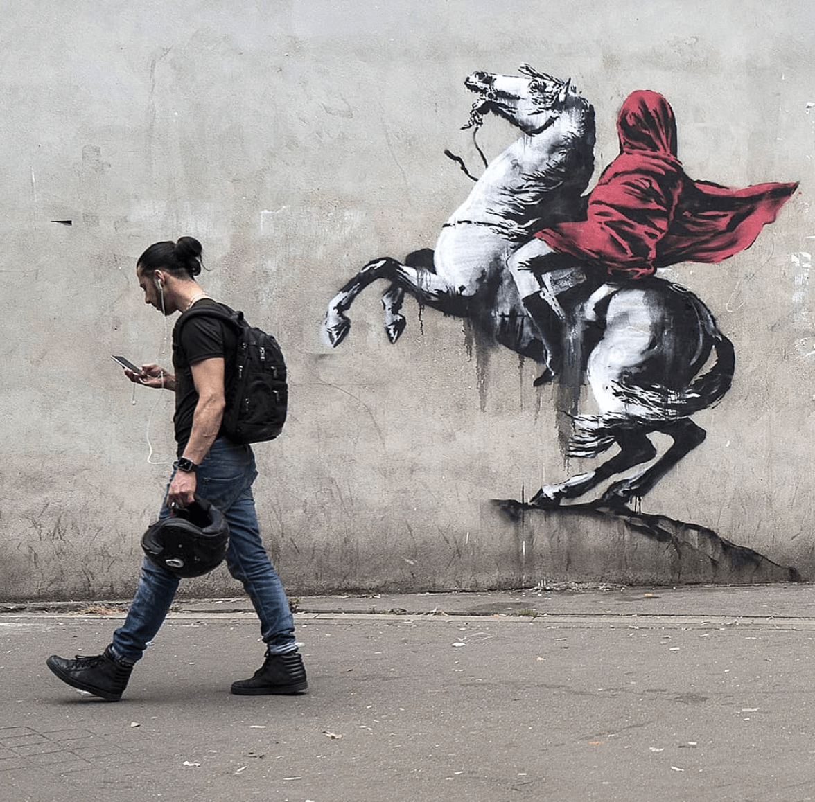 New Banksy Stencil Art Is Causing A Riot In Paris 2018