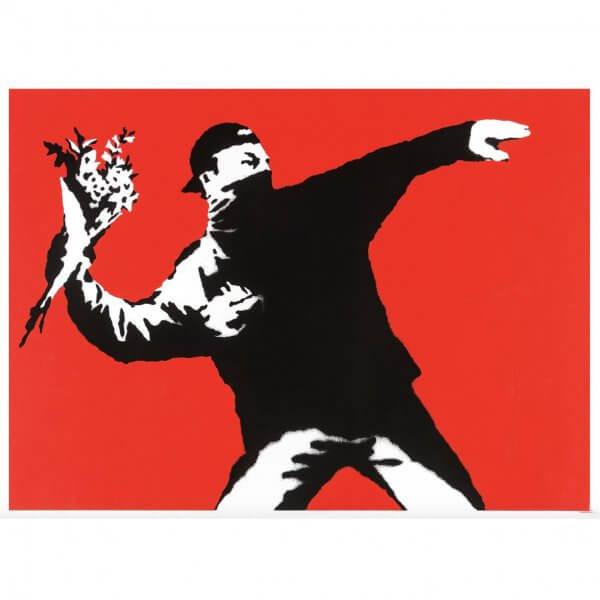 Banksy - Love is in the Air Print