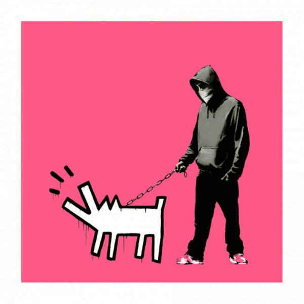 Banksy - Choose Your Weapon (Bright Pink)