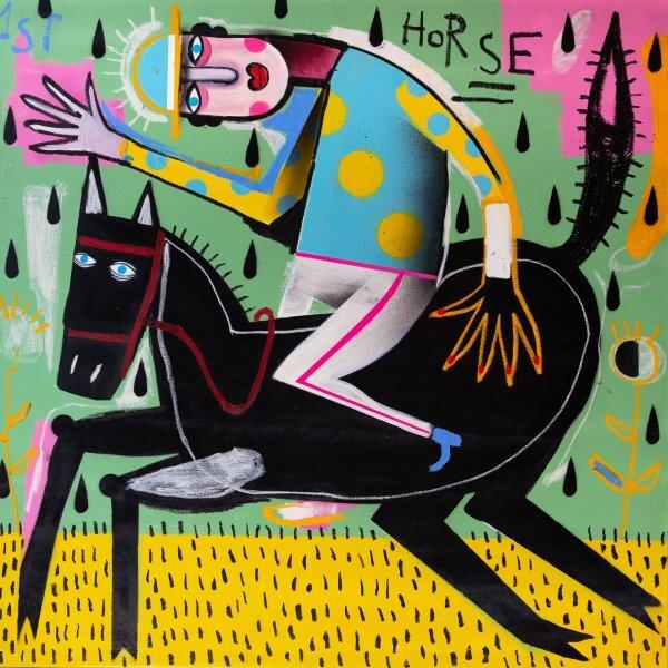 Joachim - The Winning Jockey (Blue/Yellow Dots Jersey) 1/1