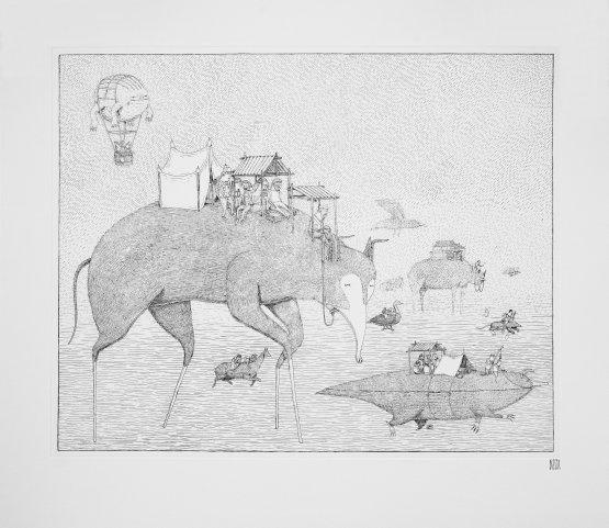 Bisser Migration Print