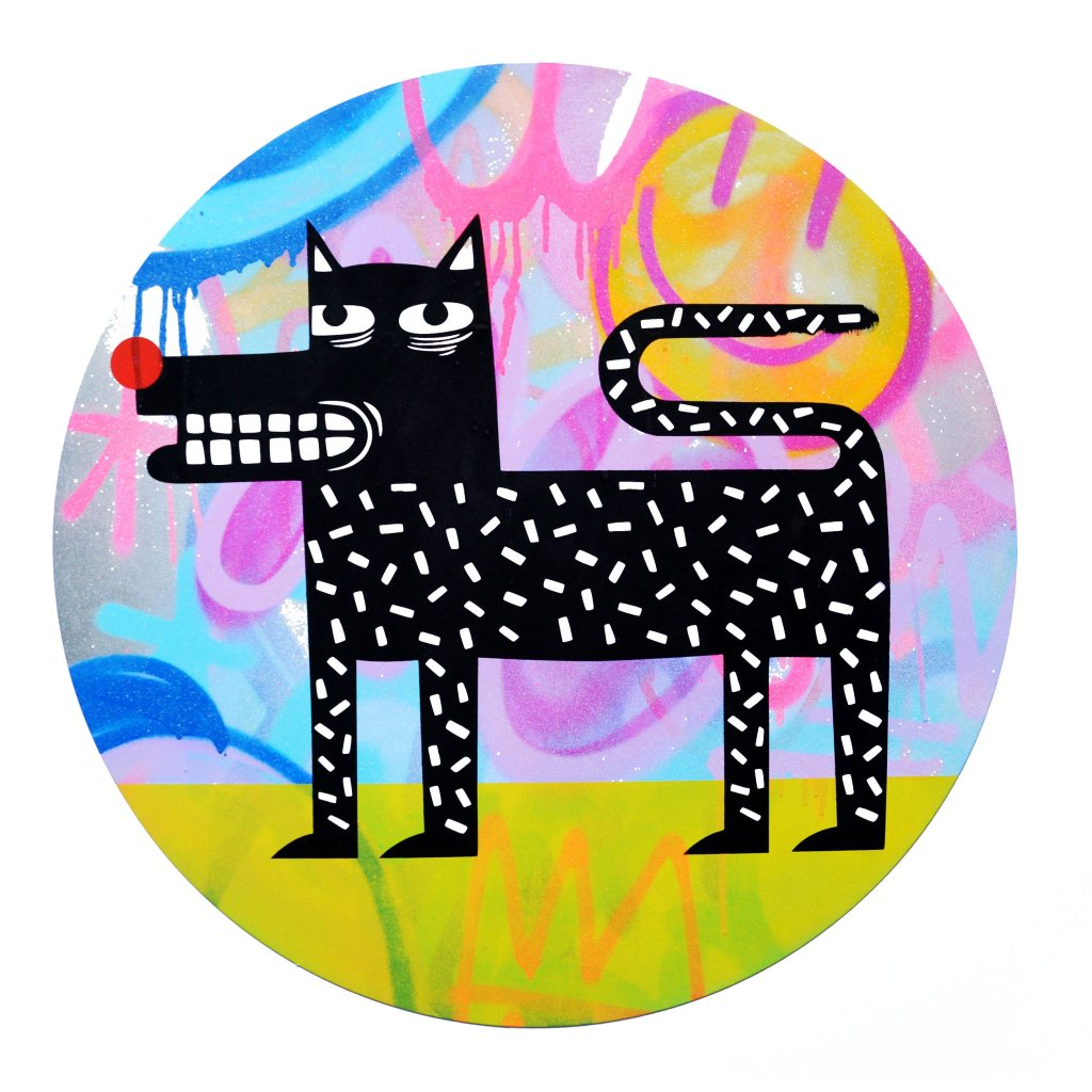 Joachim - The Watchdog (Graffiti Pop on Aluminium Hand finished Edition) #1