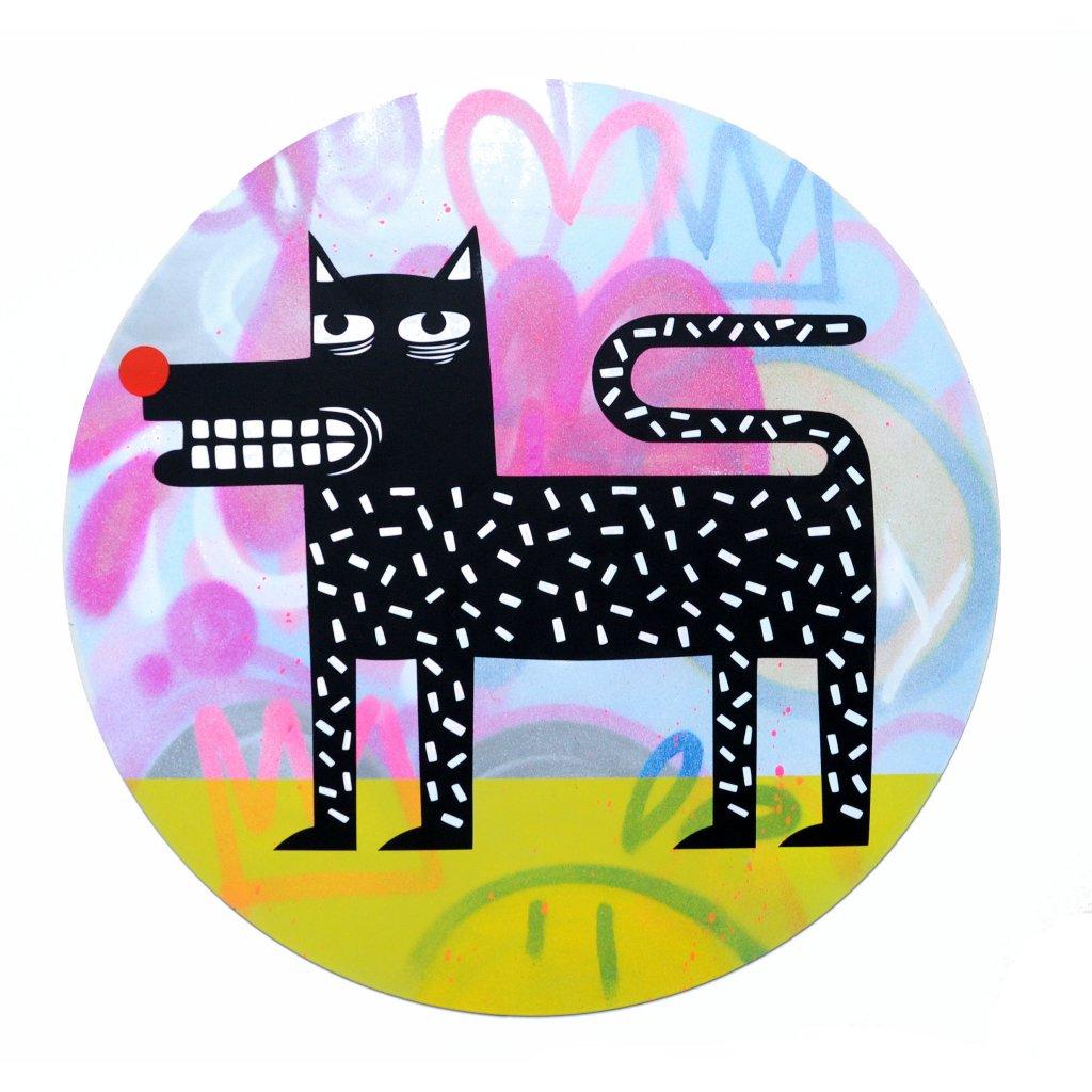 Joachim - The Watchdog (Graffiti Pop on Aluminium Hand finished Edition) #2