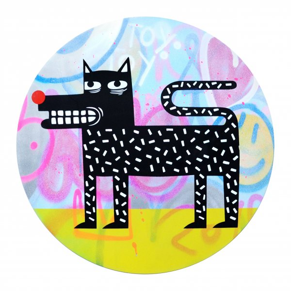 Joachim - The Watchdog (Graffiti Pop on Aluminium Hand finished Edition) #3