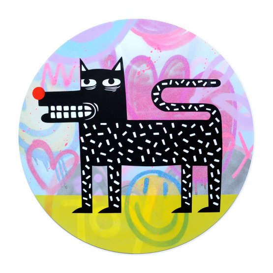 Joachim - The Watchdog (Graffiti Pop on Aluminium Hand finished Edition) #7