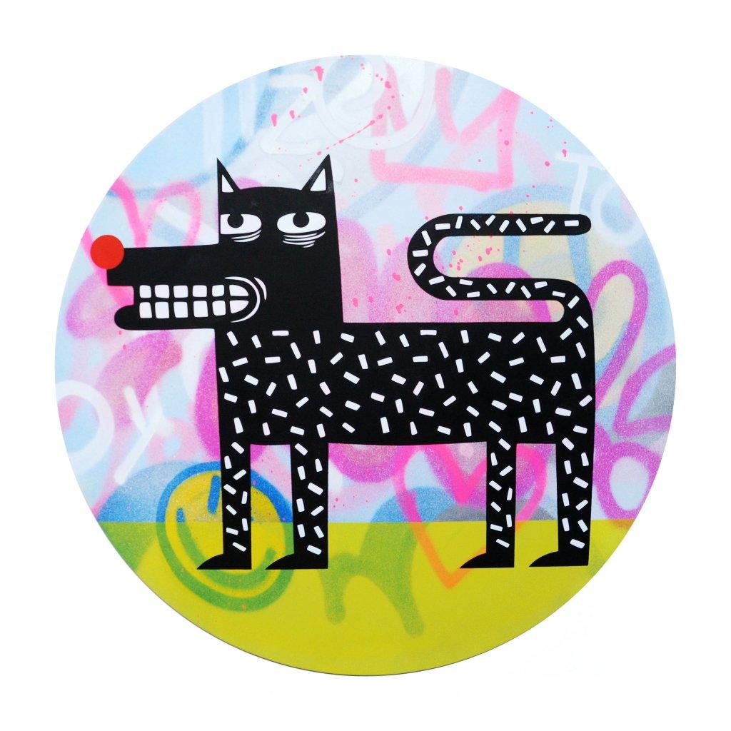 Joachim - The Watchdog (Graffiti Pop on Aluminium Hand finished Edition) #9