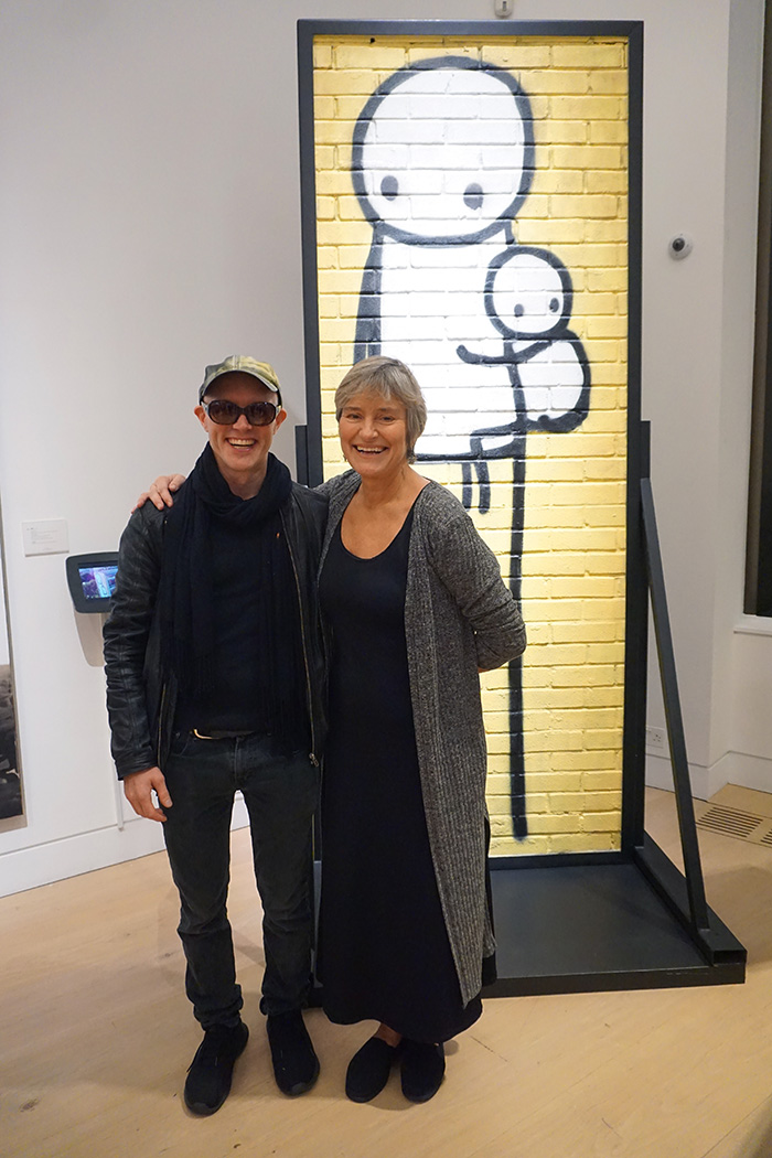 Stik's tallest mural 'Big Mother' brings the house down at Phillips Auction, 2018