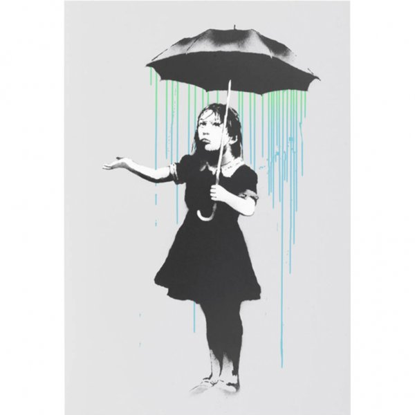 Banksy - Nola (Blue/Green Edition) Print