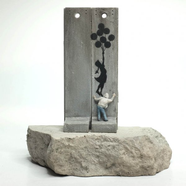 "Banksy - Walled Off Hotel ""Girl With Balloon"" Separation Wall Sculpture"
