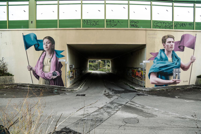 Remarquable GRAArt Urban Street Art project on the Grande Raccordo Anulare TJ-22
