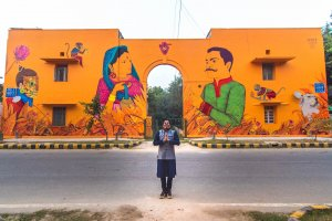 Saner, Lodhi Art Festival, Delhi 2019. Photo credit Akshat