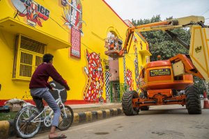 Yok and Sheryo, Lodhi Art Festival, Delhi 2019. Photo credit Pranav Gohil