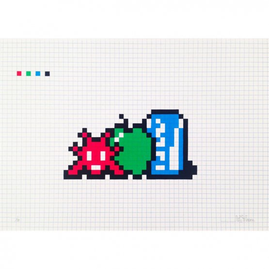 Space Invader - Still Life With a Pocari Can Print