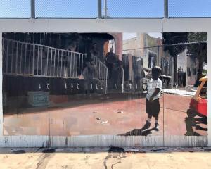 Axel Void, Maya Angelou Mural Festival, Los Angeles 2019. Photo Credit Static Medium