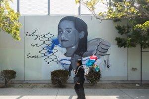 Jona Meelan, Maya Angelou Mural Festival, Los Angeles 2019. Photo Credit Static Medium
