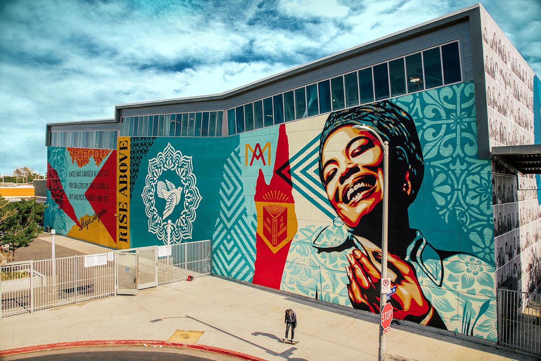 Street Artists dedicate Murals to Maya Angelou, Maya Angelou